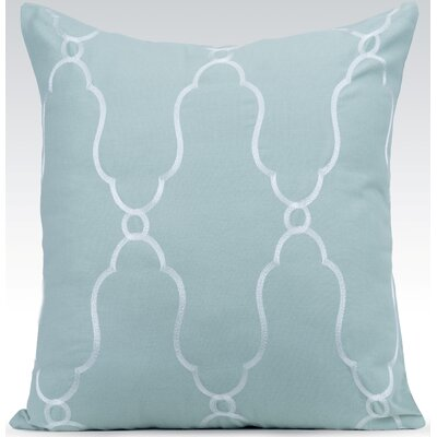 Viola Throw Pillow Color: Charlotte Blue