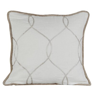 Amore Linen Throw Pillow Color: Ivory
