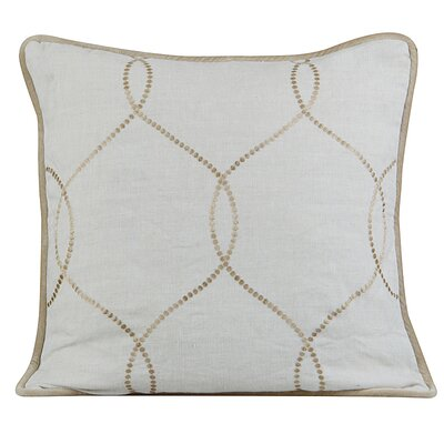 Amore Linen Throw Pillow Color: Natural