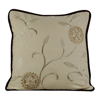 Bedazzle Throw Pillow Color: Wheatish