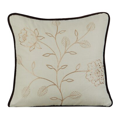 Bloom Cotton Throw Pillow Color: Fog Green