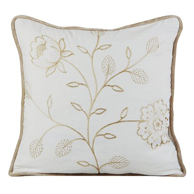 Bloom Cotton Throw Pillow Color: Ivory