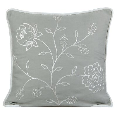 Bloom Cotton Throw Pillow Color: Mist