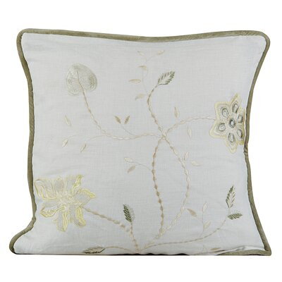 Passion Linen Throw Pillow Color: Ivory