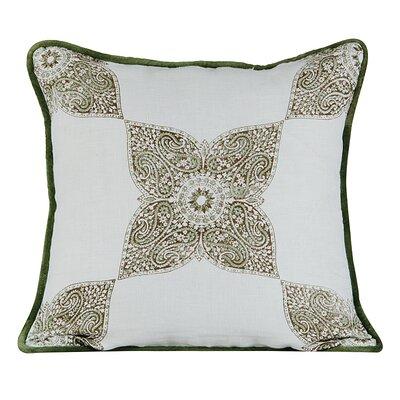 Astounding Burlap Throw Pillow Color: White