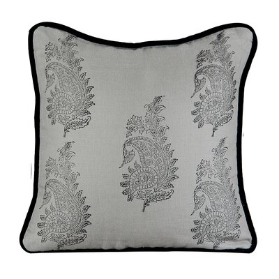 Feather Burlap Throw Pillow Color: Mist