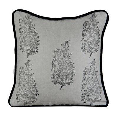 Feather Burlap Throw Pillow Color: Mist