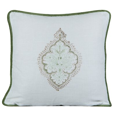 Peaceful Burlap Throw Pillow Color: White