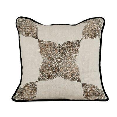 Astounding Burlap Throw Pillow Color: Wheatish