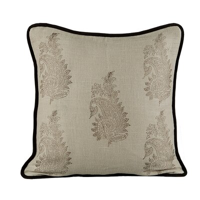 Feather Burlap Throw Pillow Color: Wheatish