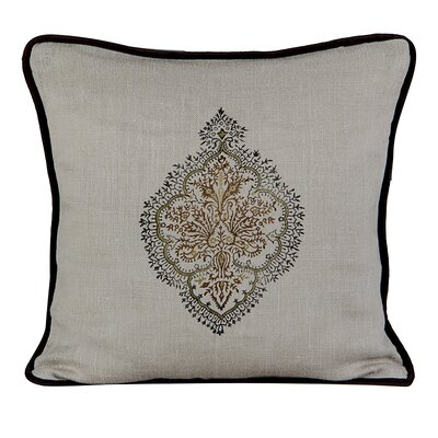 Peaceful Burlap Throw Pillow Color: Wood Ash