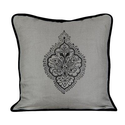 Peaceful Burlap Throw Pillow Color: Mist