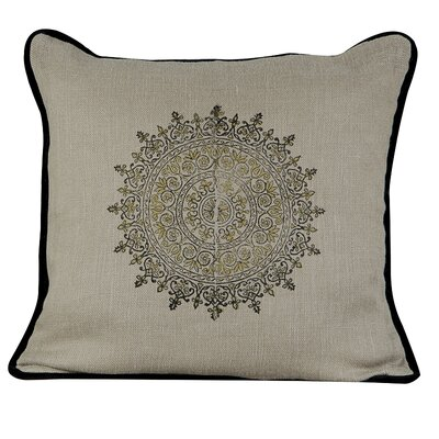 Suncrest Burlap Throw Pillow Color: Fall Leaf