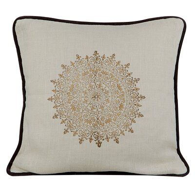 Suncrest Burlap Throw Pillow Color: Wheatish