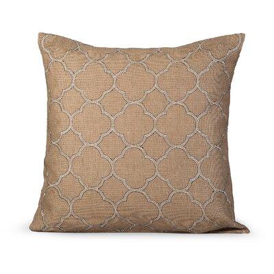 Intricate Burlap Throw Pillow Color: Natural