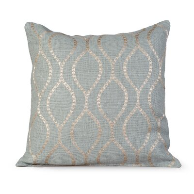 Illuminate Burlap Throw Pillow Color: Charlotte Blue