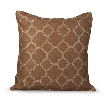 Intricate Burlap Throw Pillow Color: Tobacco Brown