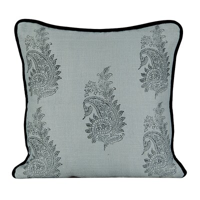 Feather Burlap Throw Pillow Color: Charlotte Blue