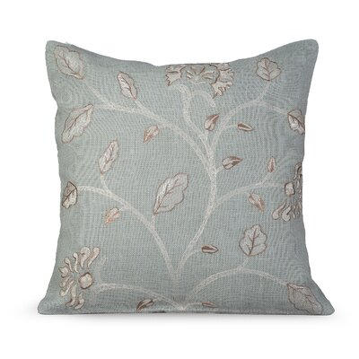 Foliage Burlap Throw Pillow Color: Charlotte Blue