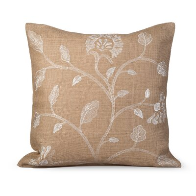 Foliage Burlap Throw Pillow Color: Natural