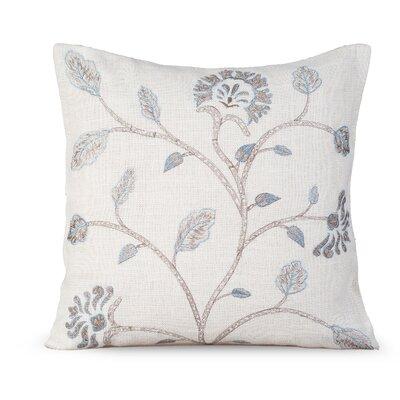 Foliage Burlap Throw Pillow Color: White