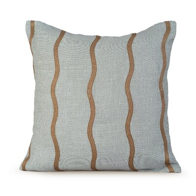 Infinite Burlap Throw Pillow Color: Charlotte Blue