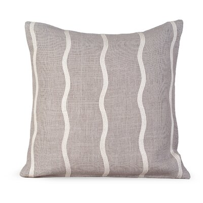 Infinite Burlap Throw Pillow Color: Mist