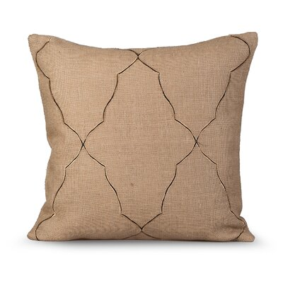 Mesmerize Burlap Throw Pillow Color: Natural