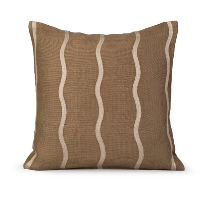 Infinite Burlap Throw Pillow Color: Olive Gray