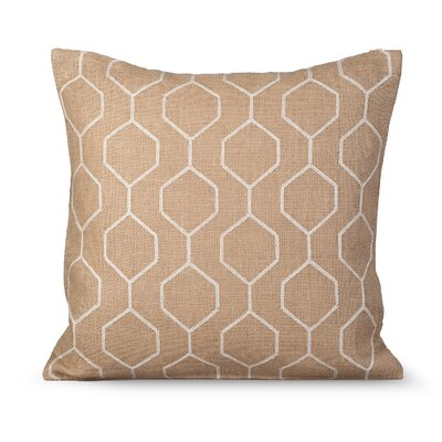 Pyramid Burlap Throw Pillow Color: Natural