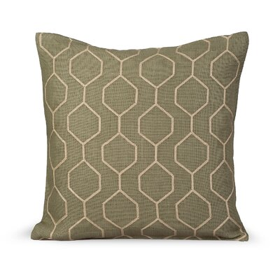 Pyramid Burlap Throw Pillow Color: Sage Green