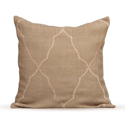 Mesmerize Burlap Throw Pillow Color: Fall Leaf