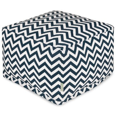Chevron Large Ottoman Fabric: Navy
