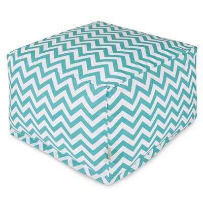 Chevron Large Ottoman Fabric: Teal