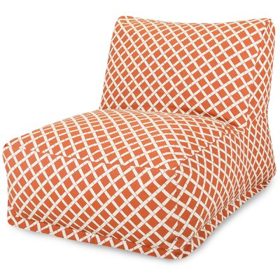 Ayer Pattern Bean Bag Lounger Upholstery: Burnt Orange
