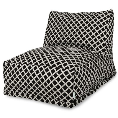 Ayer Pattern Bean Bag Lounger Upholstery: Black