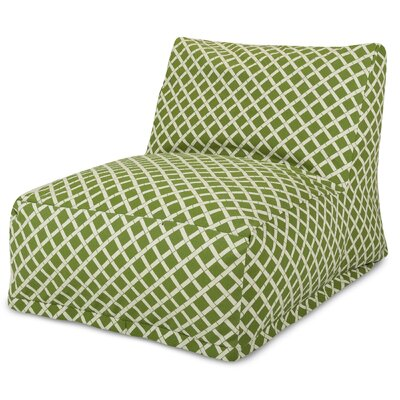 Ayer Pattern Bean Bag Lounger Upholstery: Sage