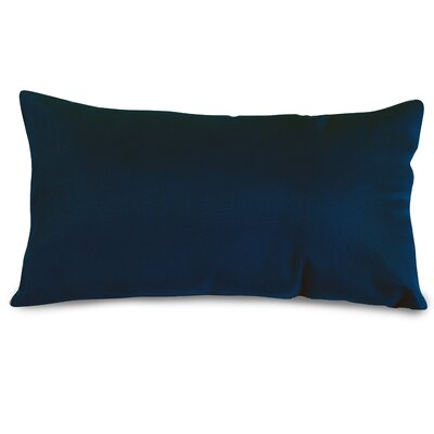 Indoor/Outdoor Lumbar Pillow Fabric: Navy Blue