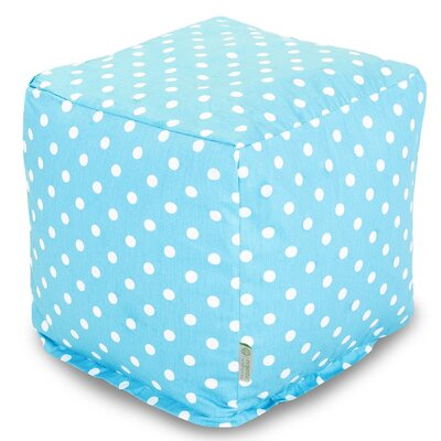 Cube Ottoman Upholstery: Aquamarine