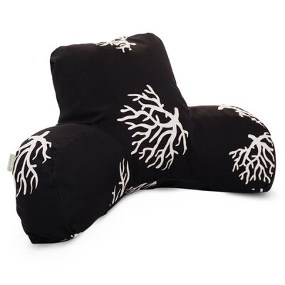 Coral Indoor/Outdoor Bed Rest Pillow Color: Black