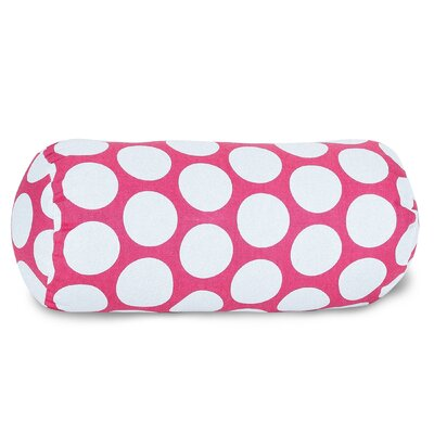 Round Cotton Bolster Pillow Color: Hot Pink