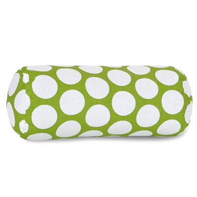 Round Cotton Bolster Pillow Color: Hot Green