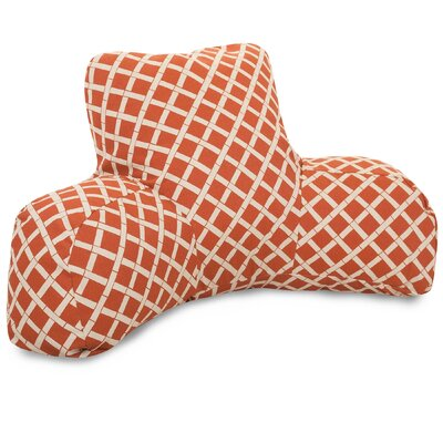 Ayer Pattern Indoor/Outdoor Bed Rest Pillow Color: Burnt Orange