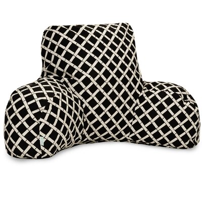 Ayer Pattern Indoor/Outdoor Bed Rest Pillow Color: Black