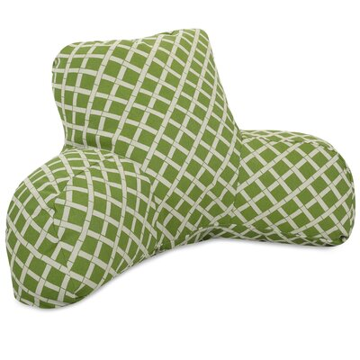 Ayer Pattern Indoor/Outdoor Bed Rest Pillow Color: Sage