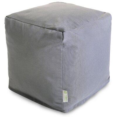 Wilda Small Cube Ottoman Fabric: Gray