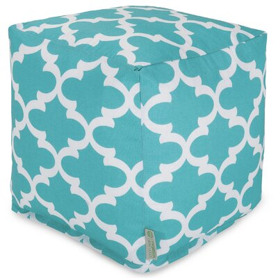 Cashwell Cube Pouf Ottoman Fabric: Teal