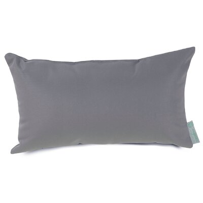 Indoor/Outdoor Lumbar Pillow Fabric: Gray
