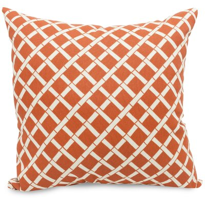 Ayer Pattern Indoor/Outdoor Throw Pillow Fabric: Burnt Orange, Size: 20 H x 20 W x 8 D