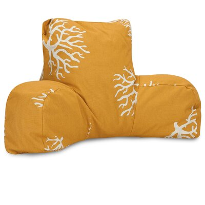 Coral Indoor/Outdoor Bed Rest Pillow Color: Yellow